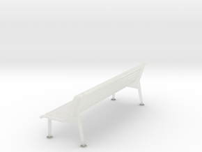 RhB Bench With Backrest  in Smooth Fine Detail Plastic