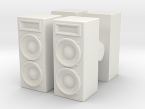 Stage Speaker (x4) 1/64 in White Natural Versatile Plastic