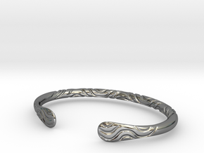 Bracelet Weave Ornament in Fine Detail Polished Silver