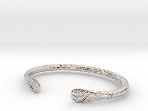 Bracelet Weave Ornament in Rhodium Plated Brass