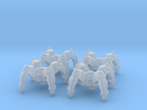 Starcraft Protoss Dragoons 6mm Infantry Epic micro in Smooth Fine Detail Plastic