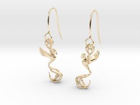 Phoenix earring in 14k Gold Plated Brass