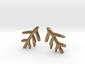 Elder Sign Earring (Pair) in Natural Brass
