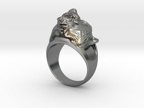 Ring Bear in Polished Silver