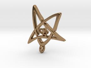 Derleth Elder Sign Earring (single) in Natural Brass