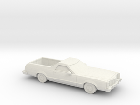 1/64  1977-79 Ford Ranchero in White Natural Versatile Plastic