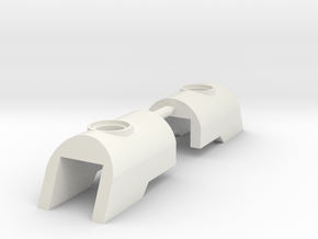 Nuva Shell Armour for Bionicle - 2 Parts in White Natural Versatile Plastic