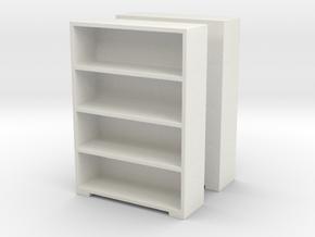 Bookshelf (x2) 1/72 in White Natural Versatile Plastic