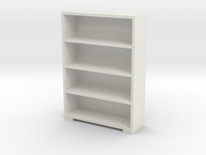 Bookshelf 1/64 in White Natural Versatile Plastic