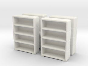Bookshelf (x4) 1/120 in White Natural Versatile Plastic