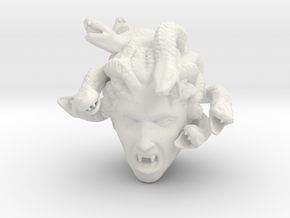 Medusa's Head in White Natural Versatile Plastic