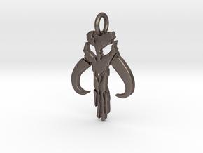 Mythosaur Skull Pendant (Small) in Polished Bronzed-Silver Steel
