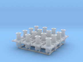 7W002a Cambrian Standard Wagon Buffer Set 8x (7mm) in Smooth Fine Detail Plastic