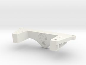 SCX-10 III Front External Spool Servo Winch Mount in White Natural Versatile Plastic