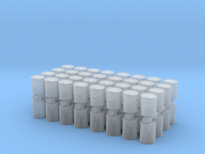 Damaged Oil Barrels (x64) 1/285 in Smooth Fine Detail Plastic