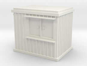 10 ft Office Container 1/87 in White Natural Versatile Plastic