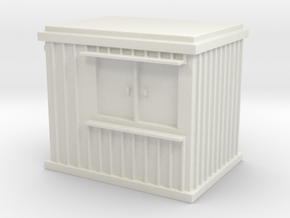 10 ft Office Container 1/72 in White Natural Versatile Plastic