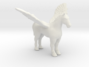 Pegasus 1/60 DnD miniature fantasy games and rpg in White Natural Versatile Plastic
