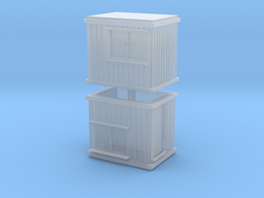 10 ft Office Container (x2) 1/200 in Smooth Fine Detail Plastic