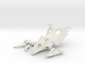 Kosmocertops Skull in White Natural Versatile Plastic: 1:18