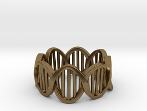 DNA Ring (Size 10) in Natural Bronze