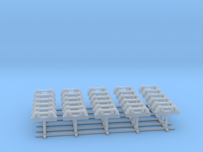 1/128 DKM Side Small Roller SET x30 in Smooth Fine Detail Plastic