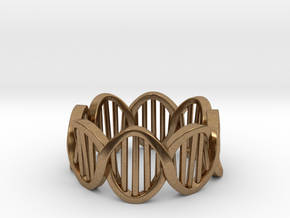 DNA Ring (Size 11) in Natural Brass