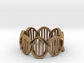 DNA Ring (Size 12) in Natural Brass