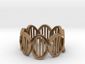 DNA Ring (Size 4) in Natural Brass