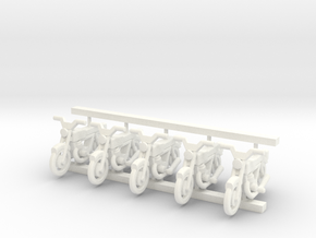 3mm Scale Generic Motorbike in White Processed Versatile Plastic
