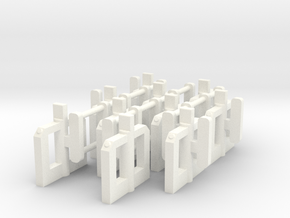 N Gauge Modern Ticket Barriers in White Processed Versatile Plastic