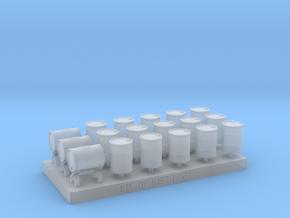 18 Fûts métalliques pour chargement de wagon in Smooth Fine Detail Plastic