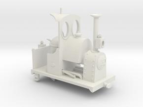 Far Twittering Locomotive Patricia in White Natural Versatile Plastic