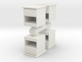 End Table (x4) 1/43 in White Natural Versatile Plastic