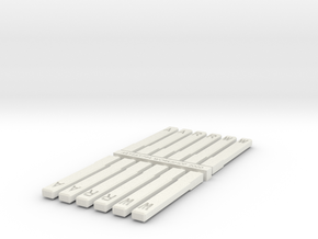 New Haven Railroad/VRR Style W,R& A posts in White Natural Versatile Plastic: 1:87 - HO