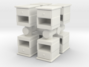 End Table (x8) 1/64 in White Natural Versatile Plastic