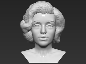 Marilyn Monroe bust in White Natural Versatile Plastic