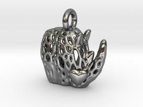 Love Rhino in Polished Silver