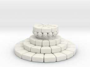 Display Base: Skull Altar in White Natural Versatile Plastic