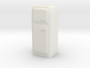 Vintage Fridge 1/12 in White Natural Versatile Plastic