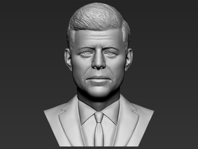 John F Kennedy bust in White Natural Versatile Plastic