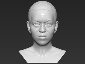 Michelle Obama bust in White Natural Versatile Plastic
