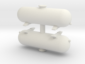 LPG Gas Tank (x2) 1/120 in White Natural Versatile Plastic