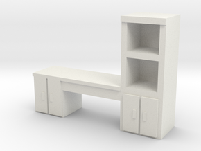 Cabinet Office Desk 1/64 in White Natural Versatile Plastic