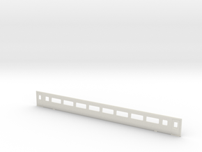 3mm Scale Mk3 Coach TS Side a in White Natural Versatile Plastic