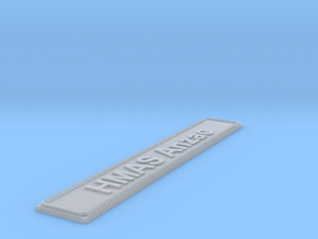 Nameplate HMAS Anzac in Smoothest Fine Detail Plastic