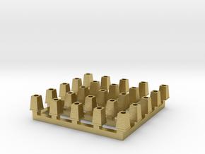 Streetlight Base HO scale x25 in Natural Brass: 1:87 - HO