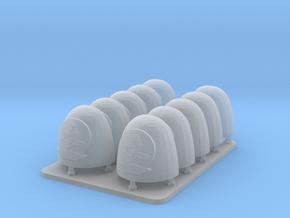 Cyber Samurai Bonsai Clan V6 Smooth Shoulder Pads in Smooth Fine Detail Plastic