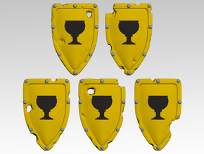 Chalice 1 Kite Shields x10 in Smooth Fine Detail Plastic