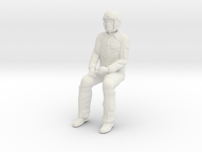 Pilot 01 seated pose .1:35 Scale in White Natural Versatile Plastic